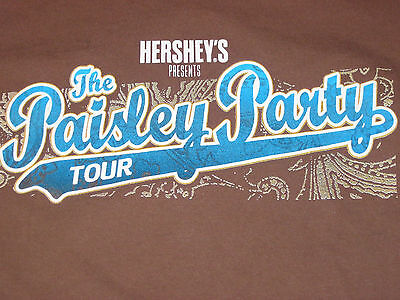 Brad Paisley The Paisley Party Tour Hersey Concert Mens T-Shirt(Xl)Extra Large