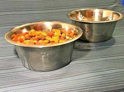 Brand New Stainless steel dog cat pet bowl. non slip. Hot Deal. Fast Shipping!!!