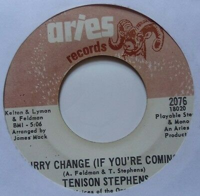 TENISON STEPHENS ~ BABY im A FOOL ~NORTHERN SOUL on ARIES 45 ~ RARE ~ HEAR