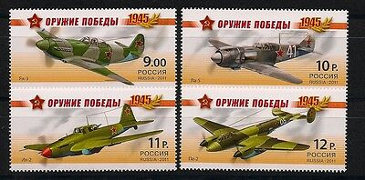 Russland Russia 2011 Weapons Of Victory ** Postfrisch Block Of 4