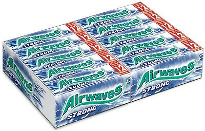 (1000g=33,71€) Wrigleys Airwaves Strong - Kaugummi - 30 Packungen