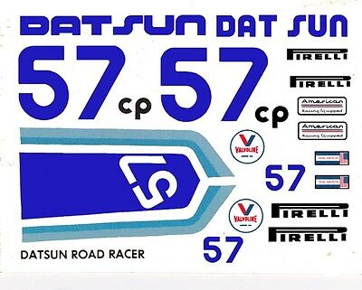 #57 Datsun Road Racer SCCA - Trans AM 1/24th - 1/25th Scale Waterslide Decals