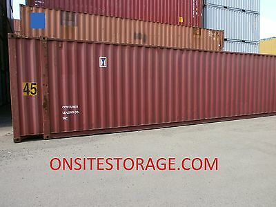 Used 45' High Cube Steel Storage Container Shipping Cargo Conex  Seabox Phoenix