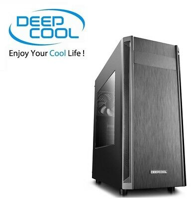 DEEPCOOL D-SHIELD Mid Tower Gaming Computer Case With Side Window