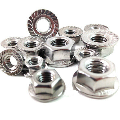 Din6923 Hexagonal Flange Serrated Nuts A2 Stainless Steel M3 M4 M5 M6 M8 M10 M12