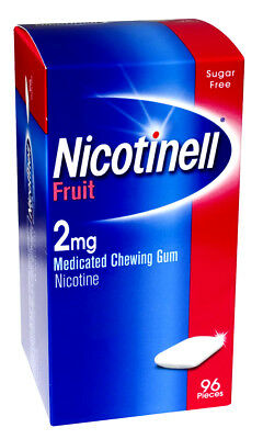 Nicotnell Fruit 2mg Medicated Chewing Gum 96 Pieces