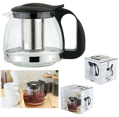 600ml OR 1100ml GLASS INFUSION INFUSER TEAPOT LEAF HERB TEA COFFEE MAKING POT
