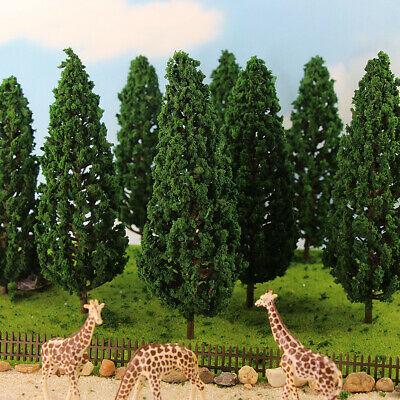 S16060 10pcs Model Pine Trees Deep Green For O G Scale Layout 160mm New