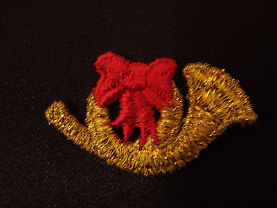 French Horn Red Bow Metallic Embroidery Applique Patch Emblem Lot (24 Doz)