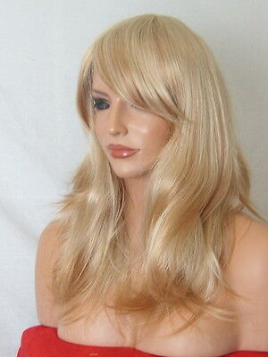 Strawberry Blonde Wig Fashion medium natural wig party cheap Lady Ladies Wig L7