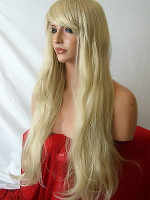 Blonde Wig natural Fashion Wig cheap Long Wavy party LADIES HAIR WIG ash Mix E22