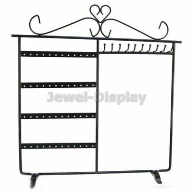 Black 48 Earring 10 Necklace Stand Jewellery Retail Display Holder