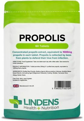 Propolis 1000 mg one-a-day  (60 tablets) Lindens [2124]