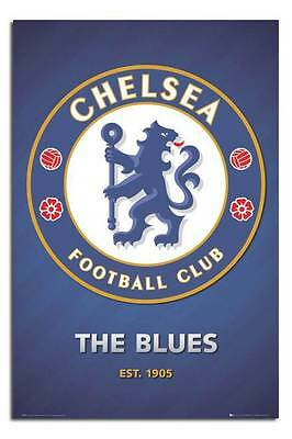 Chelsea FC Club Crest Large Maxi Wall Poster New - Laminated Available
