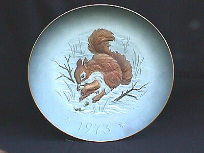 Gunther Granjet Hutschenreuther Gracious Gift Squirrel Plate w/Acorns Snowflakes
