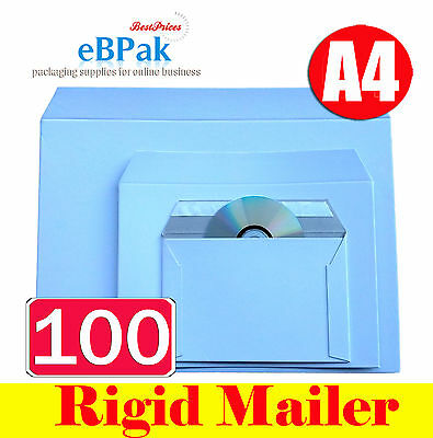 100 x A4 Size Rigid Envelope 240x330mm - Hard Mailer for Document Photo Film