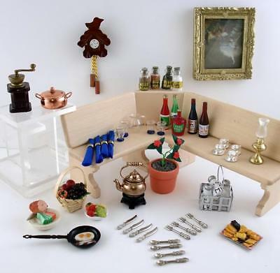 Dolls House Miniature Mixed Lot Dining Room Kitchen Accessory Set