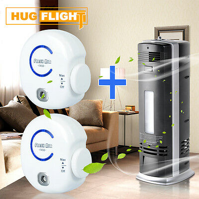6in1 Ozone Carbon Ionic Air Purifier Ioniser Freshener Cleaner+2 x Lon Ozonizer