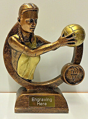 Netball Trophy + FREE Engraving + FREE P&P On Additional Trophies