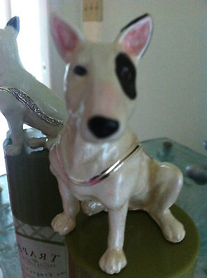 Bull Terrier ~ Jeweled  Enamel Box & Matching Necklace #62672