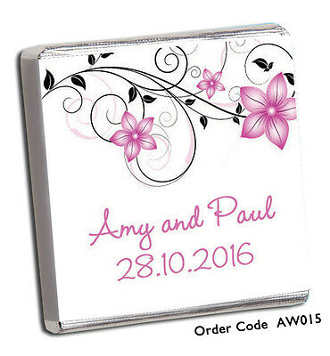 50 Personalised Chocolate Wedding/ Party Favours *Amazing Designs & Price* 2016