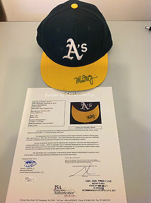 Mark McGwire Early Game Worn Autographed Hat - JSA Certificate of Authenticity