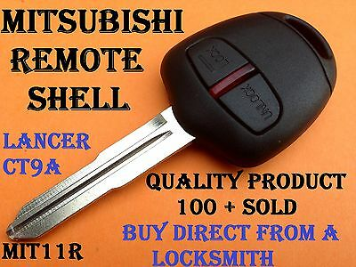Mitsubishi Lancer EVO CT9A VII VIII IX outlander 2 Button Remote Key Blank Shell