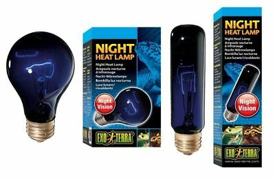 Exo Terra Night Heat Lamp T10 A19 Reptile Glo Moonlight Light Bulb