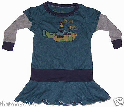 New Rowdy Sprout The Beatles Yellow Submarine Vintage Style Girls Dress in Blue
