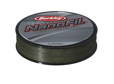 BERKLEY NANOFIL GREEN (Low-Vis) - 125m Spools - All Sizes