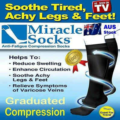 Compression Socks, Relief for Aching Feet, Varicose Veins, DVT  & Flight Travel