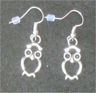 OWL Earrings - WISDOM - Animal Totem - Wicca Pagan