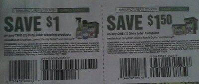 20 ea Coupons-Save $1/2 & $1.50/1 Dirty Jobs Products. Ex 12/30/12