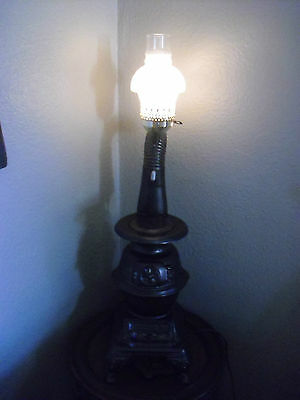 Barstow Reconditioned Display Wood Stove Woodburning 1887 Lamp Display Cast Iron