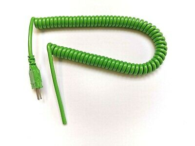 Type K Thermocouple Retractable lead 2m long with mini plug IEC green/white