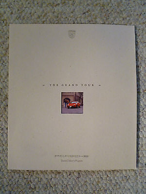"1989 Porsche ""Grand Tour"" Tourist Delivery Showroom Advertising Brochure L@@K"