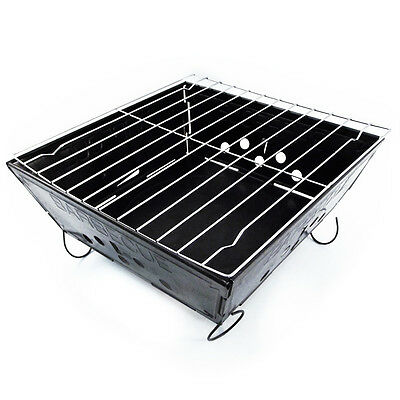Bbq Grill Folding Steel Lightweight Compact Reuseable For Outdoors Camping