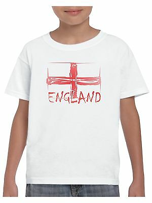 Kids England T Shirt Shabby St Georges Flag For Boys and Girls