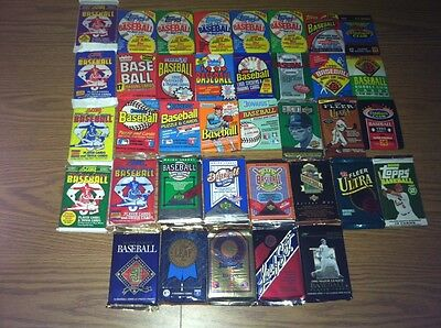 "Dad""s Old Baseball Cards in Sealed Packs + Free Gift w/Rookie Cards! NO COMMONS!"