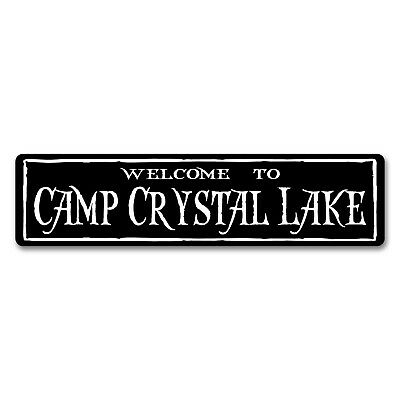"WELCOME TO CAMP CRYSTAL LAKE (Friday the 13th)  Horror Sign 6""x24"""