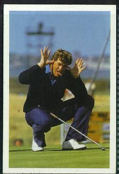 Scarce Trade Card of Peter Jacobson, Golfer 1986