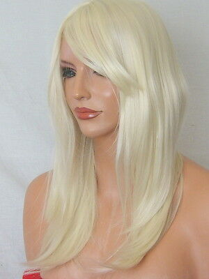PALE BLONDE WIG Fashion Lady Wig Naural Long Flick party cheap Ladies Wig K-5
