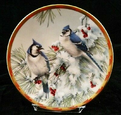 """LENOX """"WINTER SONG"""" by Catherine McClung1993 Collector Plate A02"""