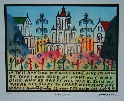 """Howard Finster """"In This Mansion Print"""""""