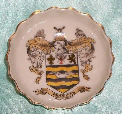 ~ Collectable ~ Goss Progress Blackpool Small Pin / Butter Pat Dish ~ Vintage ~