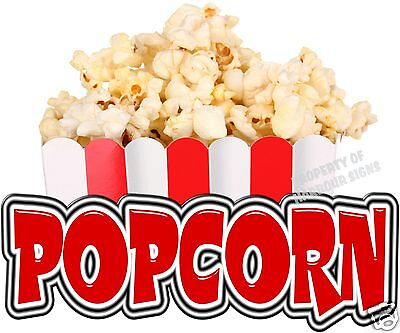 "Popcorn 14"" Decal Concession Food Truck Cart Trailer Restaurant Vinyl Menu Sign"