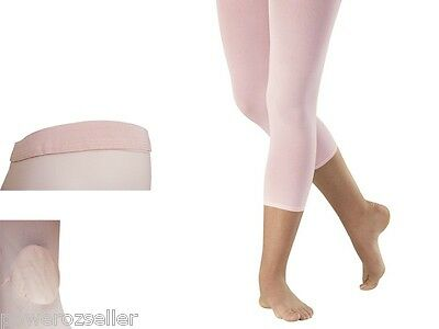 Footless Ballet Dance Tights with plain waist & gusset Size Child to Adult