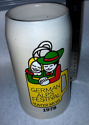 German Alps Festival Hunter MT. NY 1978 Stein Collectible made in West Germany