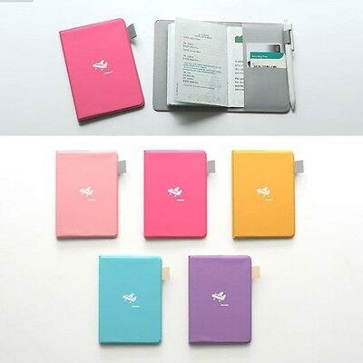 Simple Passport case with Pen holder Credit ID Card Cover Holder Travel wallet