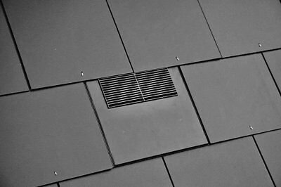 Slate Vent Tile 500 x 250 mm 10K Roof Ventilation For Soil Pipe + Extractor Fans